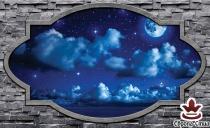 фототапет небе с луна и звезди