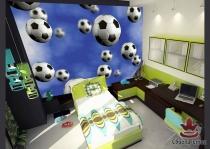 фототапети с футболни сини топки