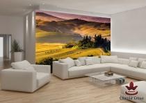 фототапети с изглед поле в тоскана