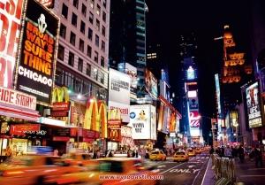 фототапет с  нощни градски реклами