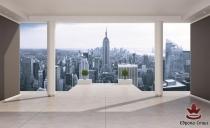 фототапети панорамни изглед град