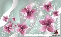 фототапети орнаментика с орхидеи