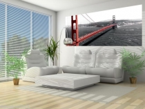 фототапет панел мост в червено