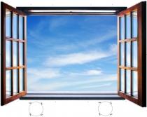 фототапет имитиращ прозорец