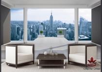 фототапети панорама 3д град