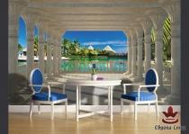 фототапети с изглед море през колони