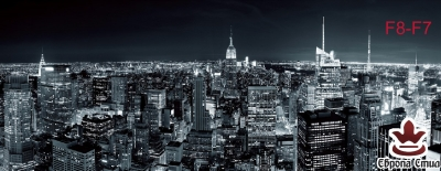 фототапети макси размер нощен изглед на Ню Йорк