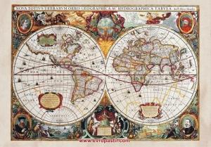 фототапет старинна карта на света