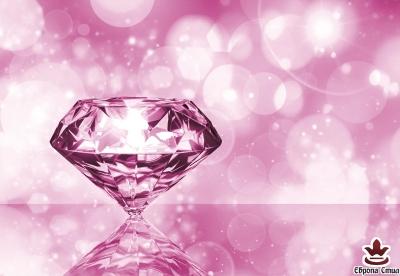 фототапети на хартия с розов диамант