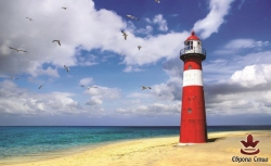 фототапети морски изглед   с фар