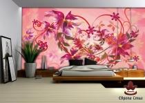 цветя и орнаменти в розово