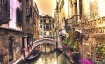 фототапети с каналите на Венеция