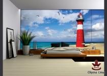 фототапети  с изглед морски фар