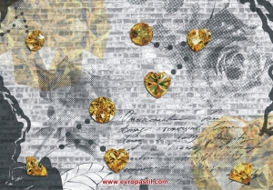 фототапет пано с кристали