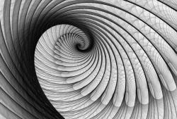 3д фототапет спирала сива