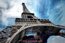 фототапет с айфеловата кула и небе
