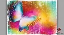 фототапет пано цветна  пеперуда