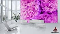 фототапет виолетови листенца от рози
