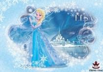 фототапет детски със снежната кралица Елза