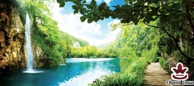 фототапети макси размер водопад Тайланд с пътека