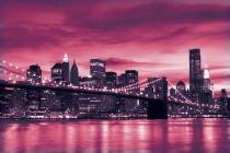 бруклин мост в розов цвят