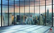 фототапети красива гледка през прозорец на Ню Йорк