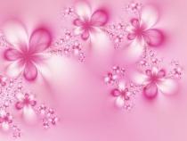 фототапети нежни розови цветя с кристали