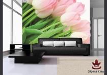 фототапет с розови лалета