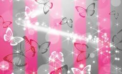 арт пано розови пеперуди